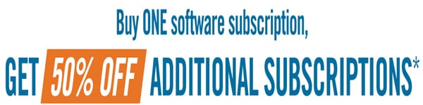 Buy one Cenozon software, get any additional at 50% off